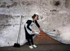 British Photographer NICK STERN has recreated the work of the world's most elusive graffiti artist Banksy.